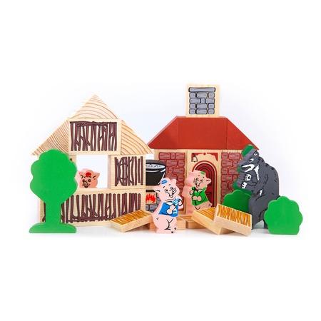 Купить Конструктор деревянный Томик «Три поросенка»