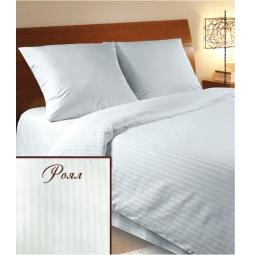 фото Комплект постельного белья Verossa Constante Royal Stripe. 2-спальный. Размер наволочки: 70х70 см — 2 шт. Цвет: молочный, светло-сиреневый