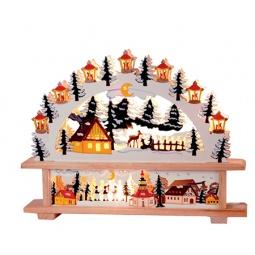 фото Декорация с подсветкой Star Trading 270-18 «Лесной город»