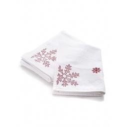 фото Комплект полотенец подарочный TAC Snow красный