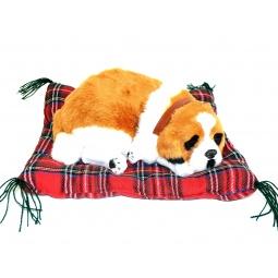 фото Мягкая игрушка интерактивная Zzz «Дышащий Сенбернар на коврике»