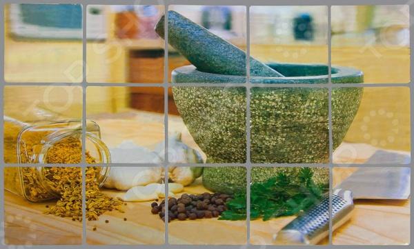 Стикер защитный на кафель Marmiton «Ступка для специй» панели для кухни фартук в курске