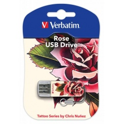 Купить Флешка Verbatim Store 'n' Go Mini Tattoo Rose 16Gb