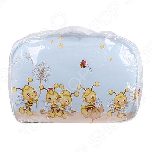 фото Комплект в кроватку Луняшки «Пчелки», Постельные принадлежности для новорожденных