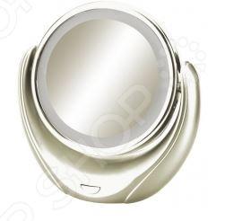 С зеркалом косметическим Marta MT-2653 процесс нанесения макияжа и проведения различных косметических процедур по уходу за кожей лица станет еще проще и удобнее. Модель выполнена в стильном современном дизайне из высококачественных ударопрочных материалов. Зеркало имеет пятикратный увеличительный эффект и оснащено функцией подсветки; работает от трех элементом 1,5 В типа АА не входят в комплект поставки .
