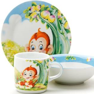 Купить Набор посуды для детей Loraine «Зверек»