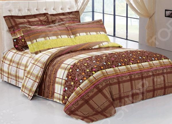 Комплект постельного белья Softline 09697. 2-спальный2-спальные<br>Комплект постельного белья Softline 09697 это комплект постельного белья нового поколения , предназначенного для молодых и современных людей, желающих создать модный интерьер спальни и сделать быт более комфортным. Белье из великолепной сатиновой ткани станет украшением любой спальни. Основой для ткани служит натуральный хлопок. Специальный станок изготавливает из тонкой пряжи прочные и гладкие нити атласного переплетения. Ткань, сделанную таким образом, легко узнать по ее особому блеску, мягкости и гладкости. Пошив, происходящий на автоматической линии, гарантирует, что размер белья будет строго соблюдаться. Благодаря уникальным потребительским свойствам, белье не теряет цвет и не садится во время стирки, а на ткани не образуются катышки .<br>