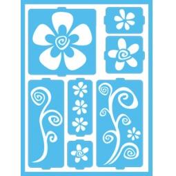 фото Трафарет декоративный для стекла и других поверхностей DecoArt Patio Paint Цветочки