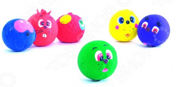 Игрушка для собак Beeztees «Мяч с принтом. Мордочки животных». В ассортименте игрушки для животных zoobaloo игрушка для кошки бамбук плюшевый мяч на резинке 60см