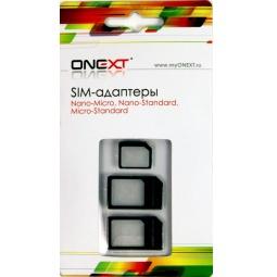 фото Адаптер sim-карты Onext 3 в 3