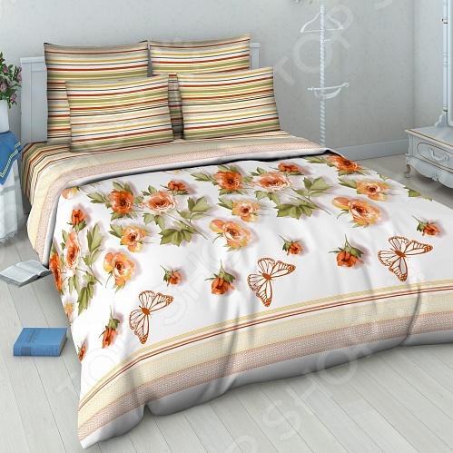 Комплект постельного белья Василиса «Розовый вальс» комплект семейного белья василиса нежная роза 4172 1 70x70 c рб