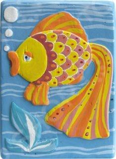 Набор для создания объемных барельефов Фантазер «Рыбка» 29324 фантазер мыло морское рыбка