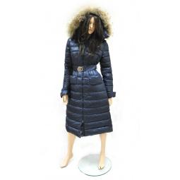 фото Пуховое пальто Sirenia Моника. Цвет: синий. Размер одежды: 46