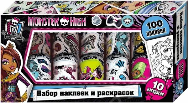 Monster High. Наклейки и раскраски в коробке росмэн наклейки и раскраски в коробке monster high