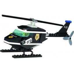 фото Конструктор игровой для ребенка Brick «Вертолет полицейский» 123
