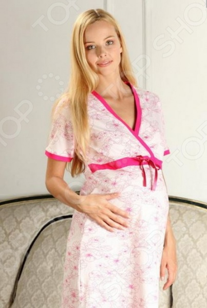 Сорочка для беременных Nuova Vita 206.2 это отличный выбор для использования дома или в роддоме. Модель скроена так, что носить ее можно и в дородовой период, и в период кормления малыша. Такая сорочка подойдет для сна, отдыха и для кормления малыша, ведь для этого предусмотрен специальный запах вы сможете кормить малыша, не растягивая ворот . Нежный материал не вызовет раздражения и аллергических реакций на коже. Благодаря добавлению лайкры сорочка практически не мнется. Ширина по поясу регулируется при помощи специального шнурка, что дает возможность носить эту сорочку на любом сроке беременности.