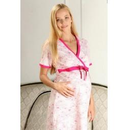 Купить Сорочка для беременных Nuova Vita 206.2. Цвет: розовый, фуксия