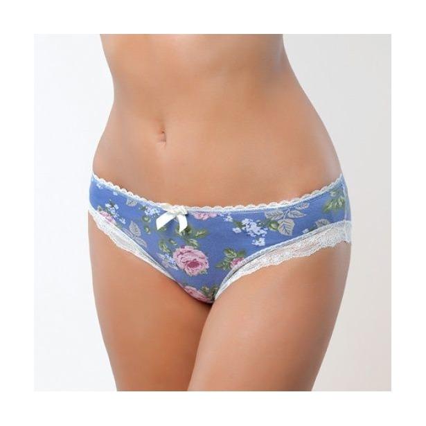 фото Трусики бикини Santi LBK-737. Цвет: синий. Рисунок: большая роза. Размер одежды: 46-48