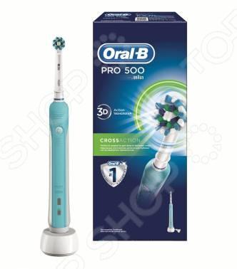 Щетка зубная электрическая Oral-B CrossAction Pro 500 электрические зубные щетки oral b электрическая зубная щётка oral b 450 cross action