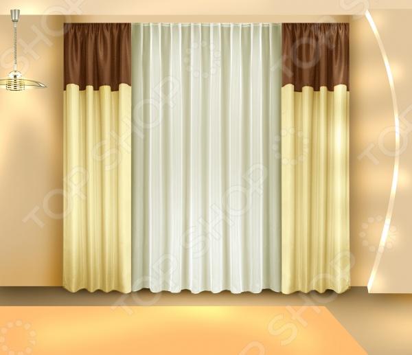Комплект штор Zlata Korunka Б097 шторы интерьерные zlata korunka комплект штор