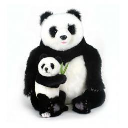 фото Мягкая игрушка для ребенка Hansa «Панда с детенышем»