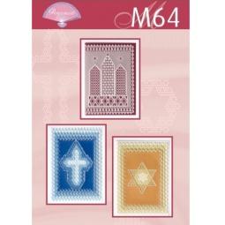Купить Набор схем для парчмента Pergamano M64 Диагональ