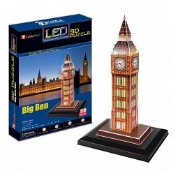 Купить Пазл 3D CubicFun «Биг-Бен с иллюминацией»