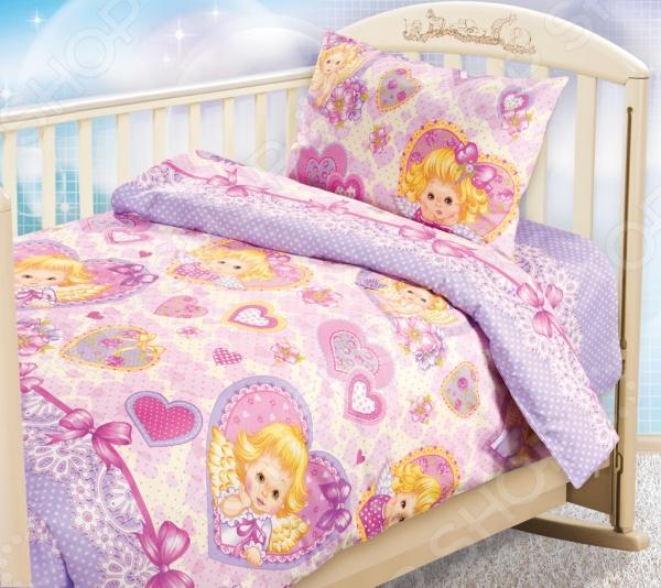 Ясельный комплект постельного белья Бамбино «Ангелочки» Бамбино - артикул: 714220