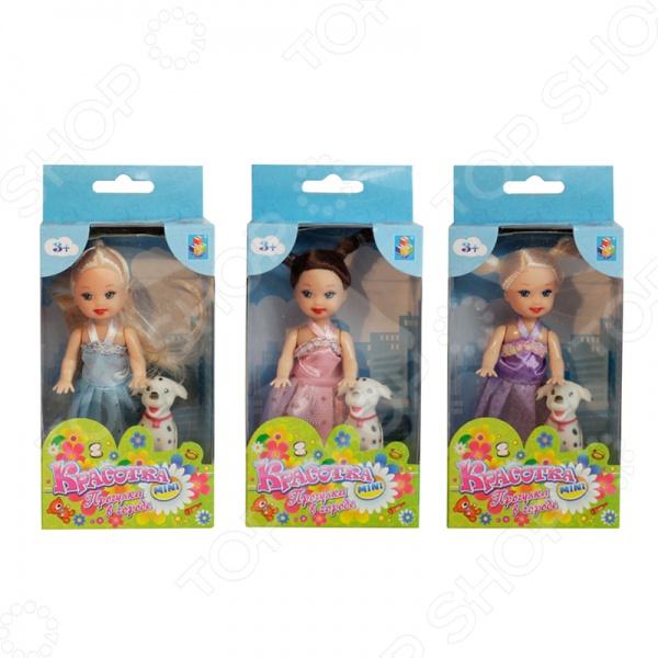 Кукла 1 Toy «Красотка в платье и туфельках с собачкой». В ассортименте