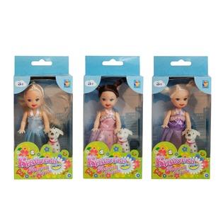 Купить Кукла 1 Toy «Красотка в платье и туфельках с собачкой». В ассортименте