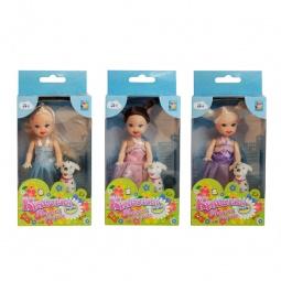 фото Кукла 1 Toy «Красотка в платье и туфельках с собачкой». В ассортименте