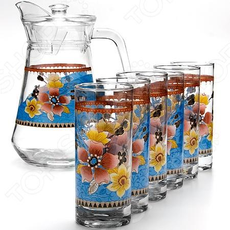 Набор: кувшин и 6 стаканов Loraine LR-24064