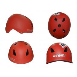фото Шлем защитный ATEMI Rider AAHR-02. Цвет: красный. Размер: M (56-58)