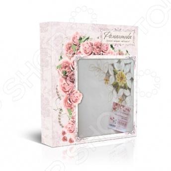 Комплект праздничный Романтика набор салфеток с мет.кольцами 243347. В ассортименте