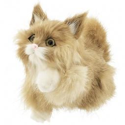 Купить Сувенир из меха интерактивный «Кошка играющая с голосом»