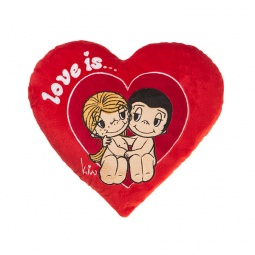 фото Подушка декоративная Love is... «Just the two of us». Цвет: красный
