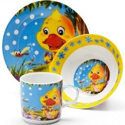 Купить Набор посуды для детей Loraine LR-24023 «Утенок»