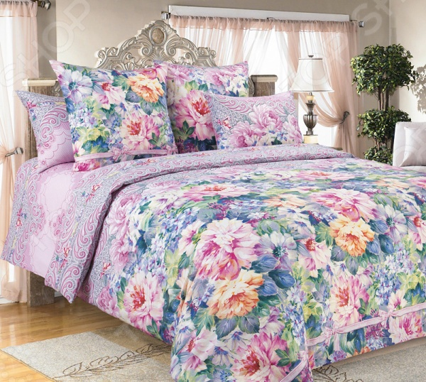 цена Комплект постельного белья Белиссимо «Влюбленность» онлайн в 2017 году