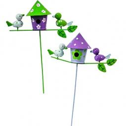 фото Штекер декоративный GREEN APPLE GSHW-24-09 «Домик с птицами». В ассортименте