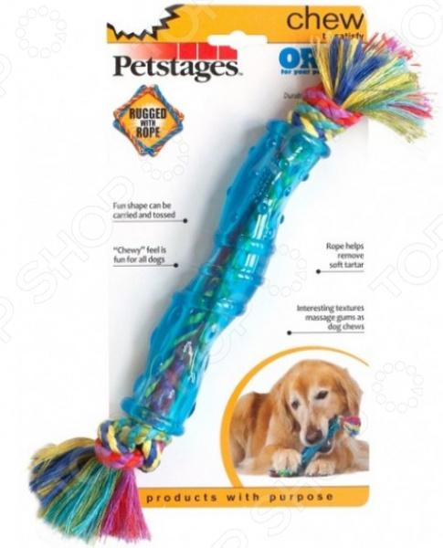 Игрушка для собак Petstages ОРКА «Палочка»Игрушки для собак<br>Игрушка для собак Petstages ОРКА Палочка это игрушка из резины, очень прочная и легкая, а значит подойдет для разных собак. Игрушку можно использовать в качестве апортировочных предметов, чтобы не опасаться повредить что-либо при броске. Собаки любят трепать и грызть мягкую игрушку, ведь ее удобно носить в зубах. Игрушки такого типа подойдут даже для тех собак, которые не очень любят играть в перетягивания, но любят носить с собой какой-то предмет. Эта игрушка станет одной из самых любимых у вашего четвероногого друга.  Она провоцирует вашего питомца на активные игры, которые являются не только хорошей физической нагрузкой, но и развлечением пока вас нет дома.  Игрушка может разнообразить прогулку, развить природные инстинкты и стать важным элементом дрессировки хорошего поведения. Регулярно играйте со своей собакой и вы увидите, что ответом вам служит безграничная любовь и преданность!<br>