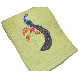 фото Полотенце подарочное с вышивкой TAC Firebird. Цвет: зеленый