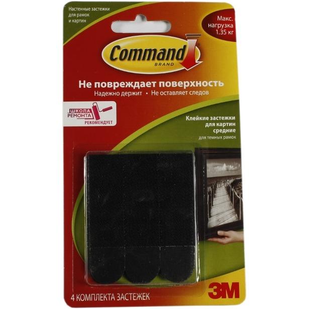 фото Крепеж-липучка настенный Command 17201BL