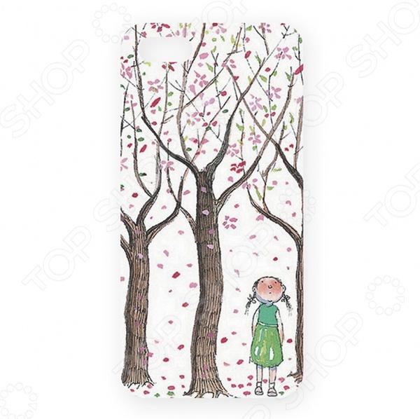 Чехол для iPhone 5 Mitya Veselkov «Цветущие яблони» саженец яблони краса свердловска