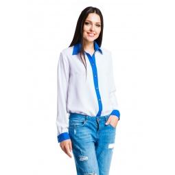 фото Блузка Mondigo 5216-1. Цвет: белый. Размер одежды: 44