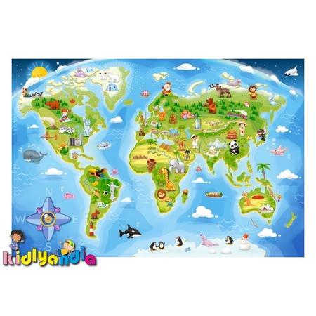 Купить Пазл 40 элементов Castorland «Карта мира»