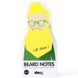 фото Блок для записей Doiy Beard. Цвет: желтый