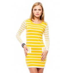 фото Туника Mondigo 9873. Цвет: ярко-горчичный. Размер одежды: 46