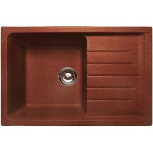 Купить Мойка кухонная GranFest Practic GF-P760L. Цвет: красный