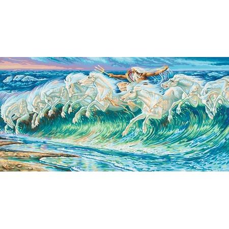 Купить Набор для рисования по номерам Schipper Репродукция «Лошади Нептуна» Вольтер Крейн