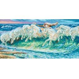 фото Набор для рисования по номерам Schipper Репродукция «Лошади Нептуна» Вольтер Крейн